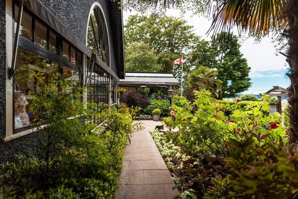 the outside of the Teahouse restaurant in Vancouver