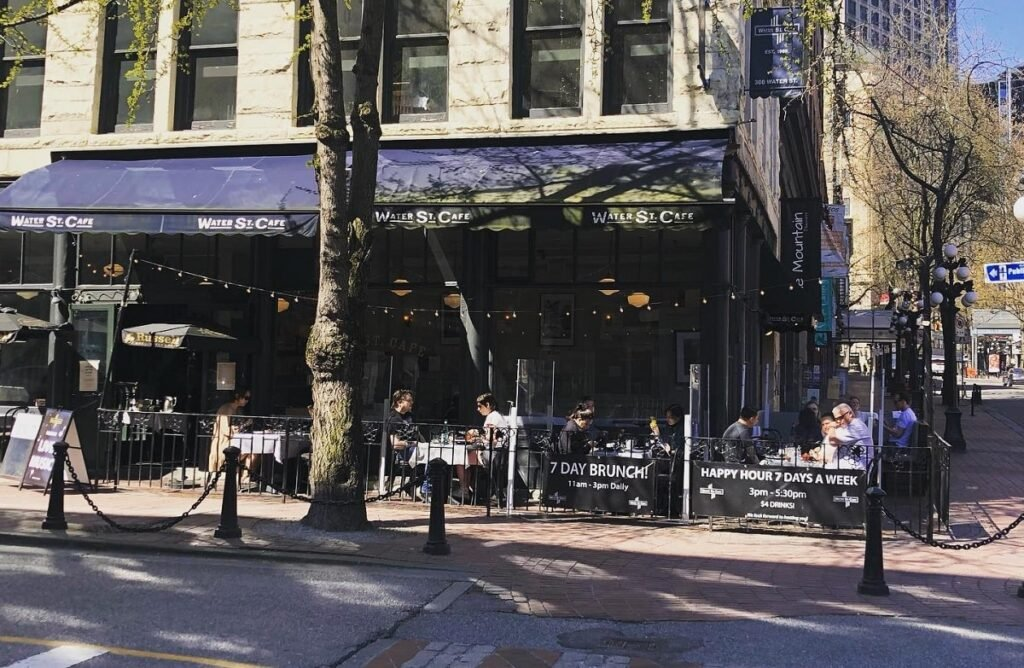 the outside of Walter Street Cafe in Gastown, Vancouver