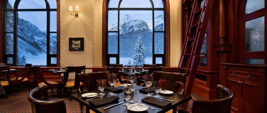 inside The Walliser Stube Restaurant in Lake Louise