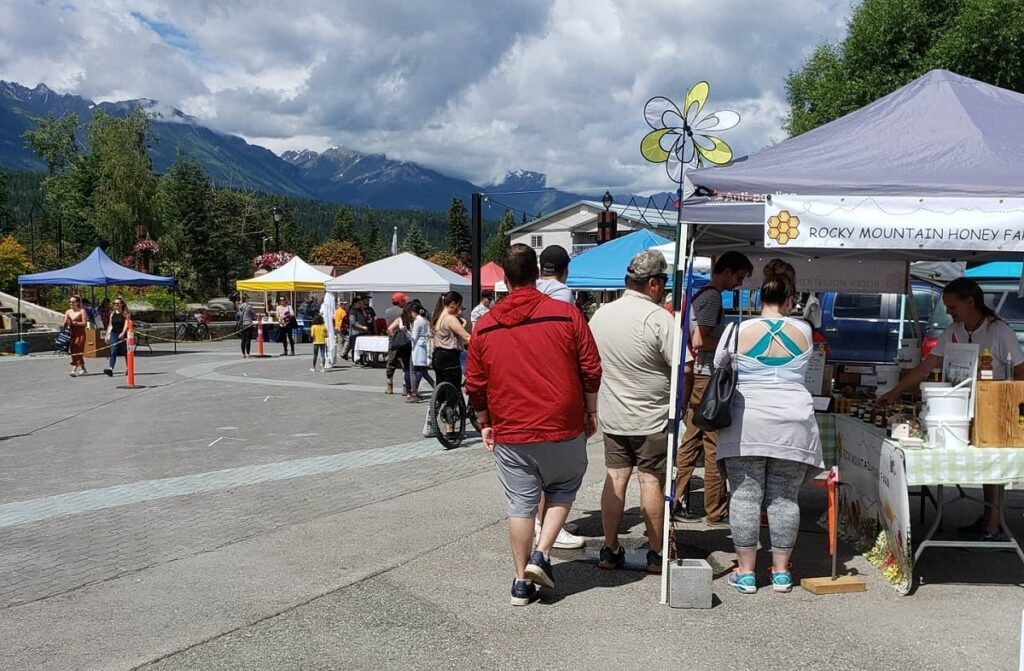 outside at the Goldens Farmers Market