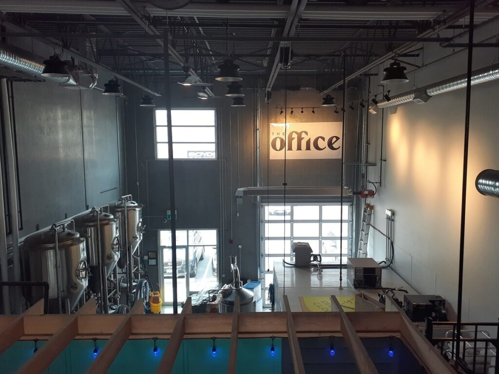 inside at The Office brewery in Kelowna's North End