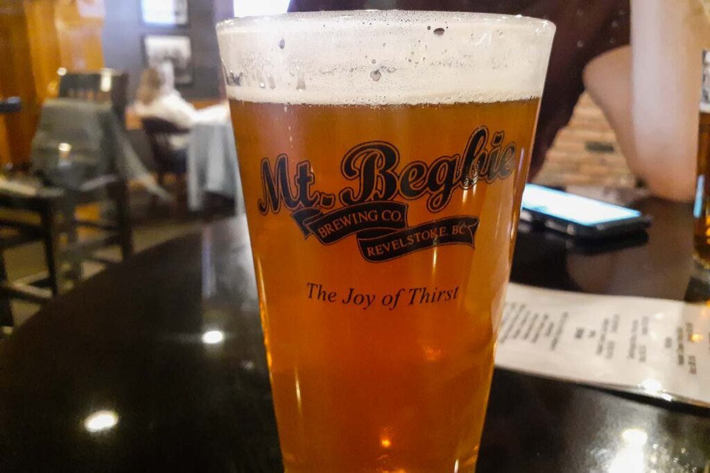A beer from Mt Begbie Brewery