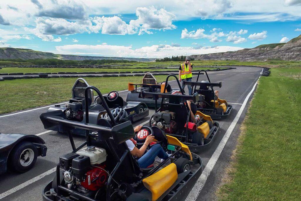 go-karting in Drumheller