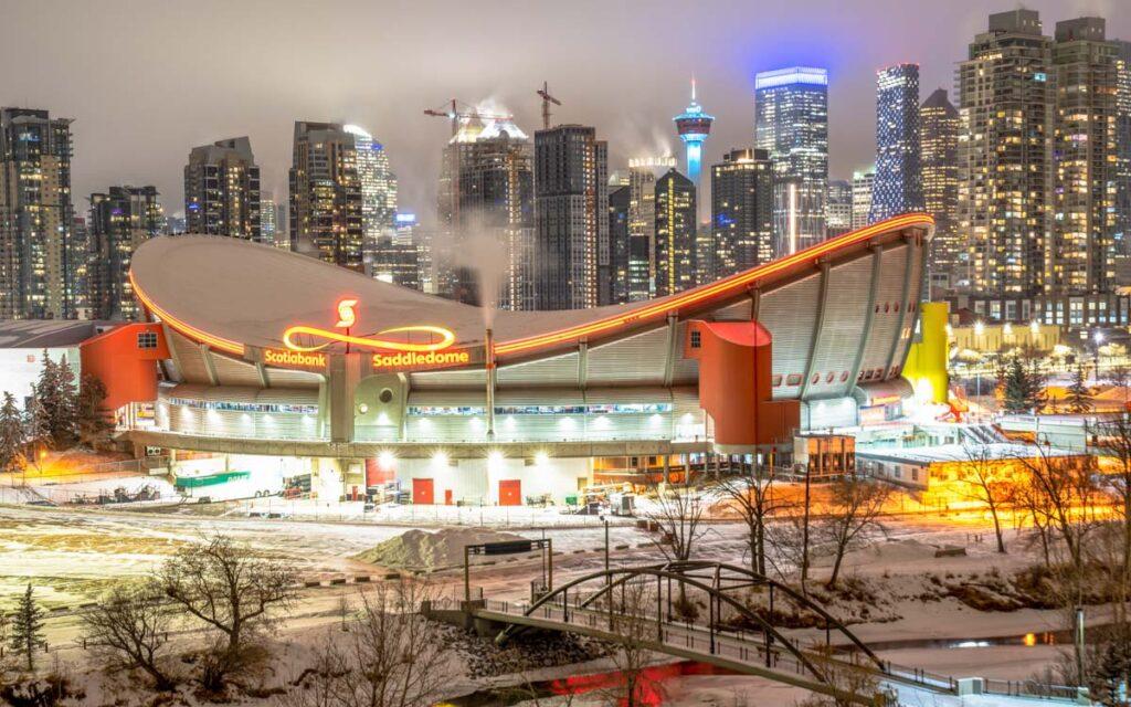 The Scotiabank Saddledome in Calgary
