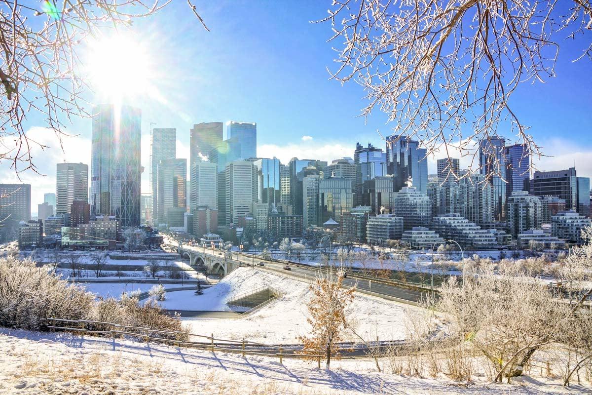 Calgary City in winter
