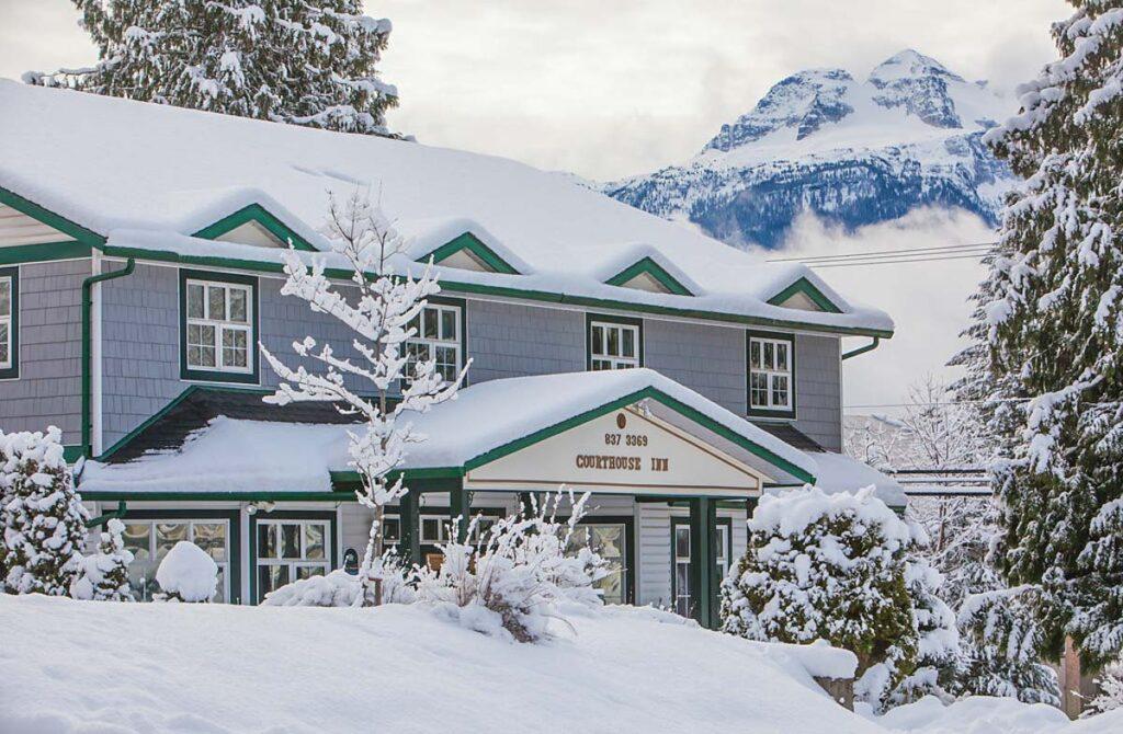 The Courthouse Inn in Revelstoke in winter