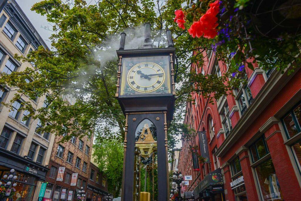 The Gastown Steam Clock in Gastown, Vancouver