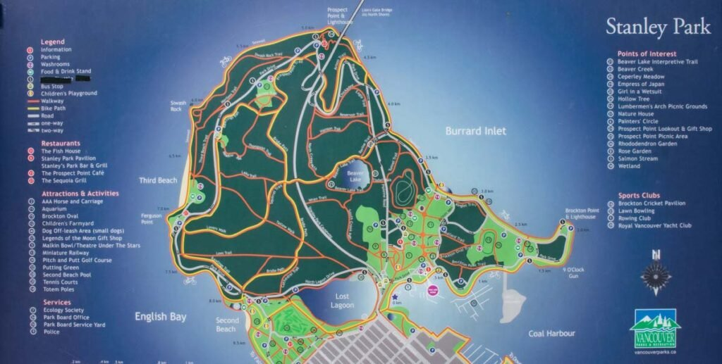 Map of Stanley Park, Vancouver