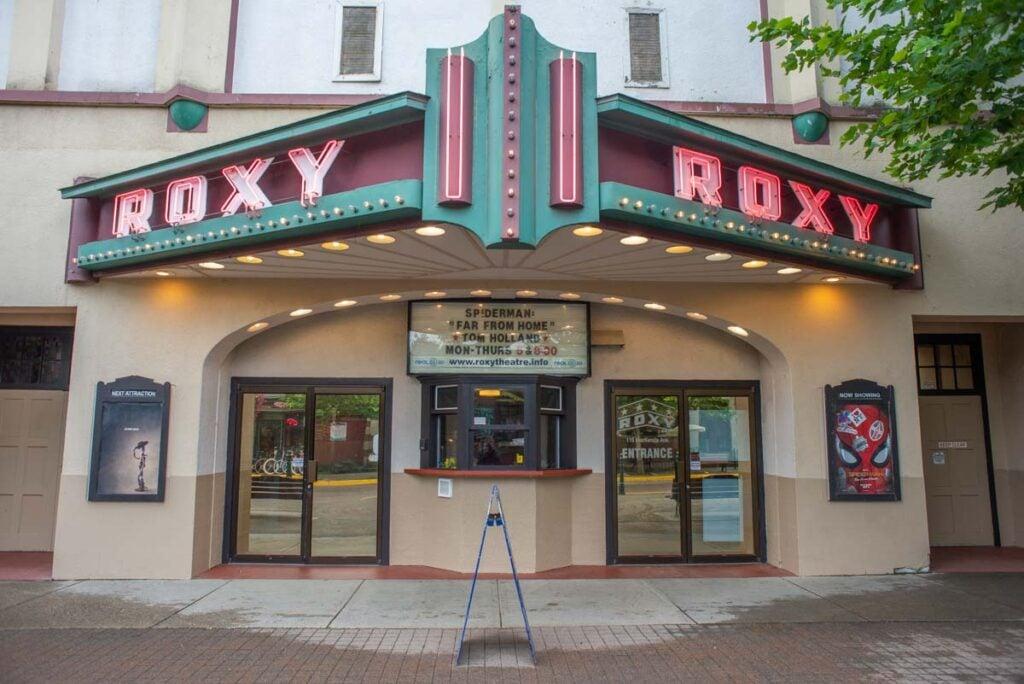 The historic Roxy Theatre in Revelstoke, BC