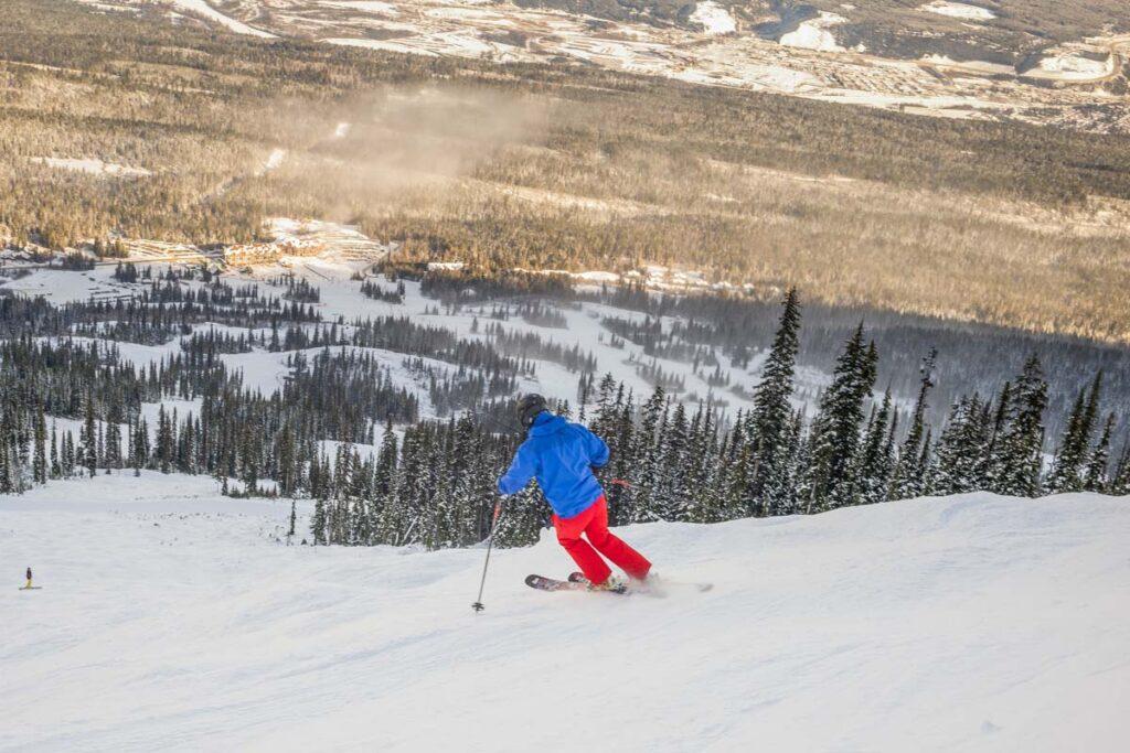 Downhill Skiing at Kicking Horse Mountain Resort, Golden, BC