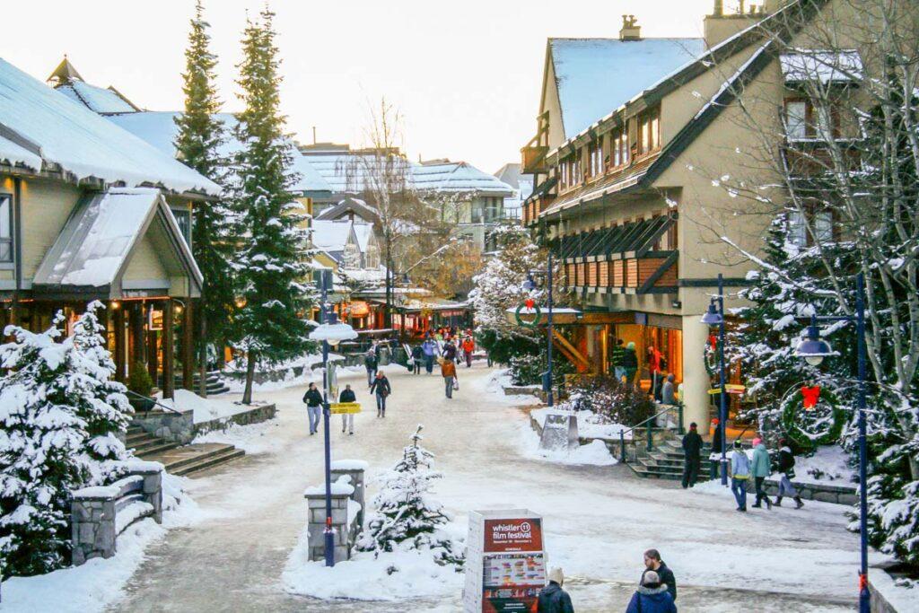 Whistler Village in winter