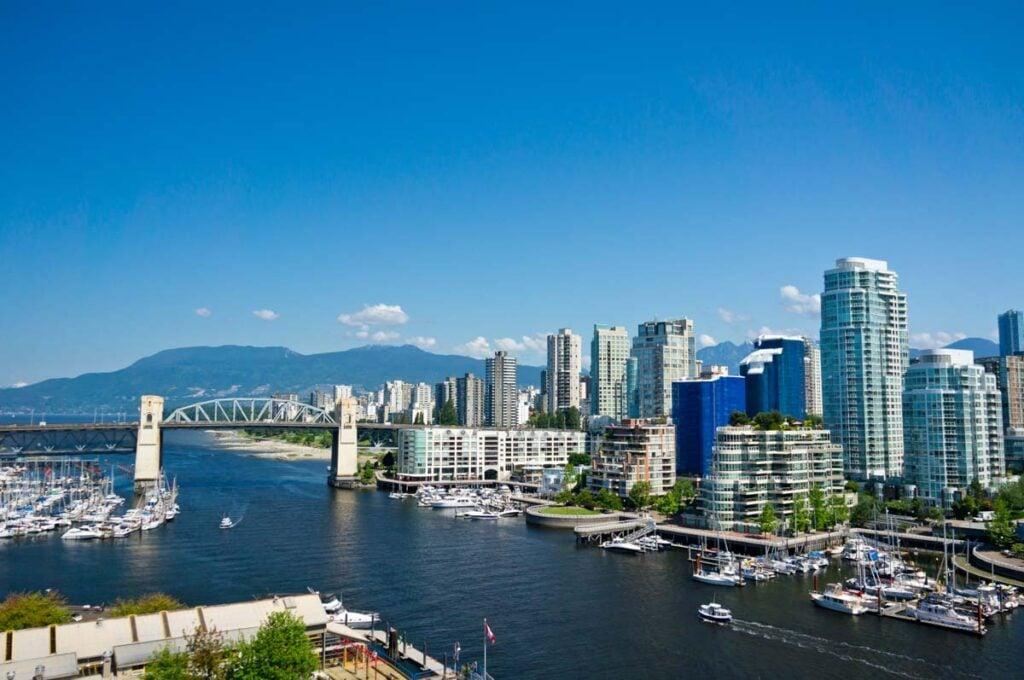 Vancouver city on a sunny day