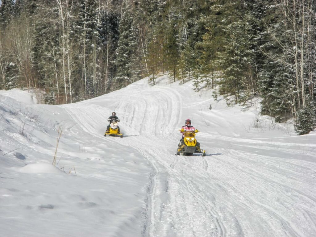 snowmobiling tour in Canada