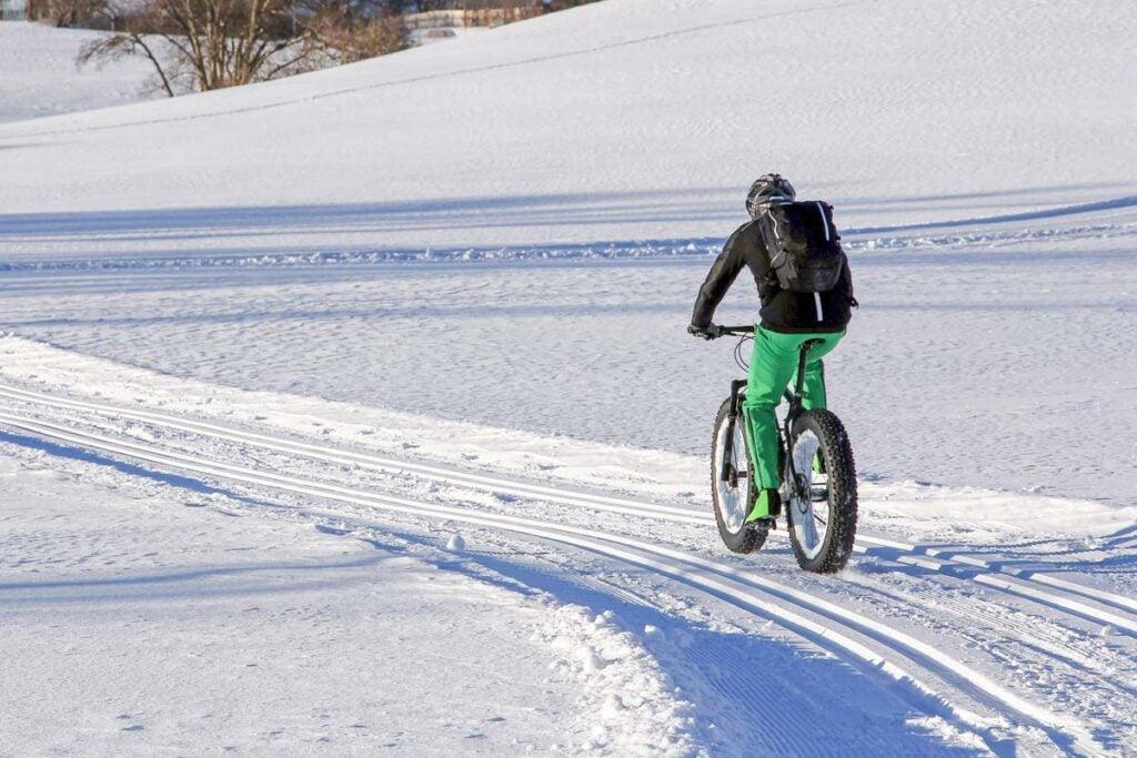 Fat Biking through the snow in Canada