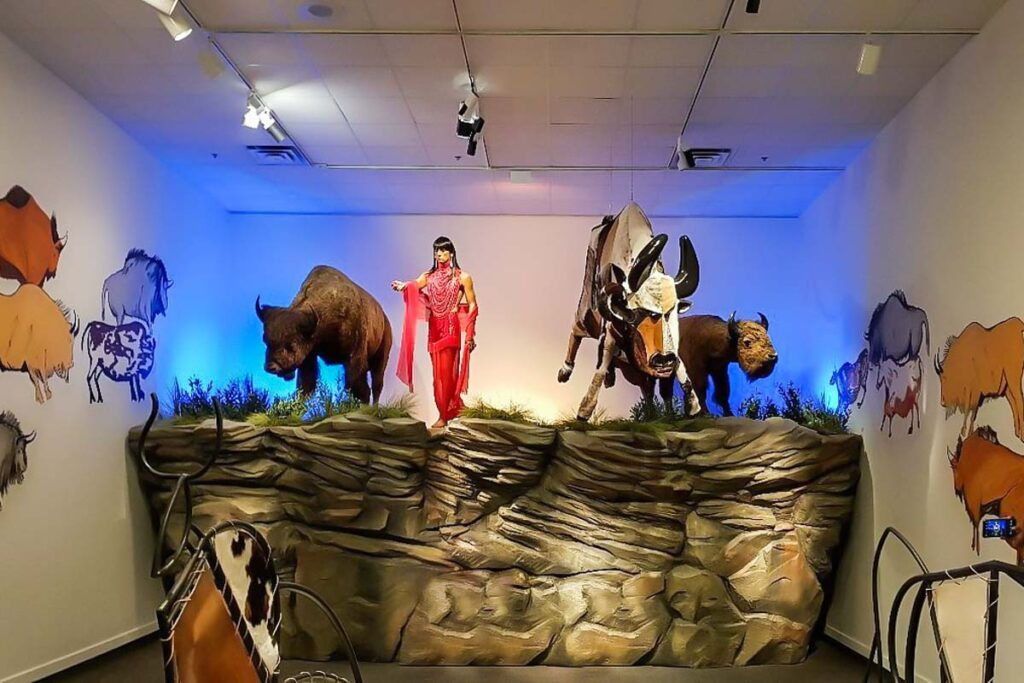 A display at the Glenbow Museum, Calgary