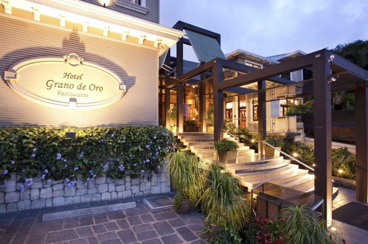 outside of the Grano de Oro Hotel in San Jose, Costa Rica