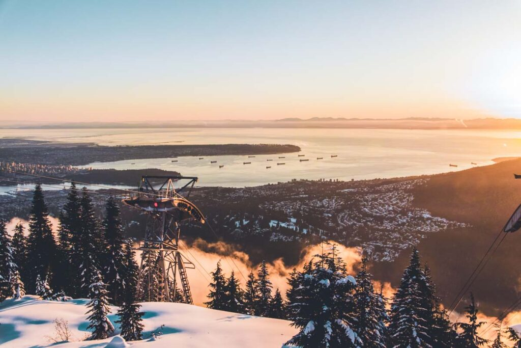 Winter views from Grouse Mountain, Vancouver