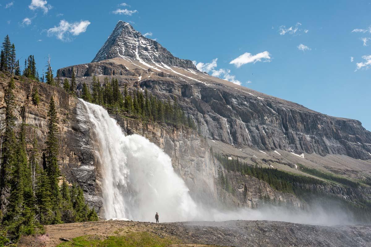 Emperor Falls on the Berg Lake Trail in Mt Robson Provincial Park near Valemount, BC