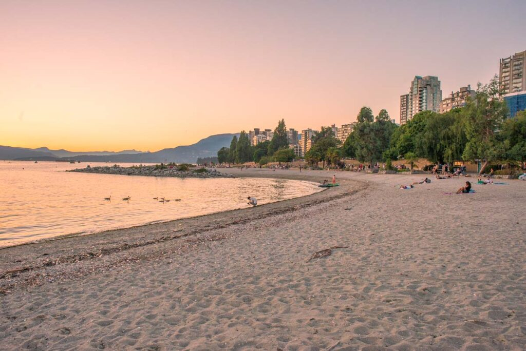 Sunset Bay Beach in Vancouver, BC