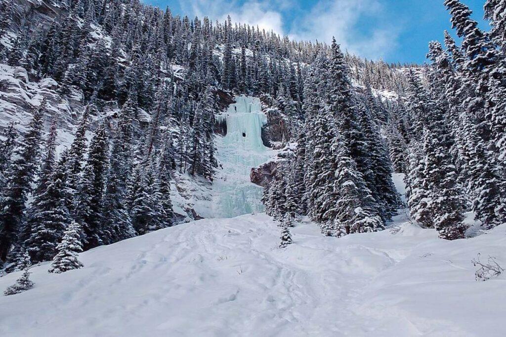 Lake Louise frozen waterfall