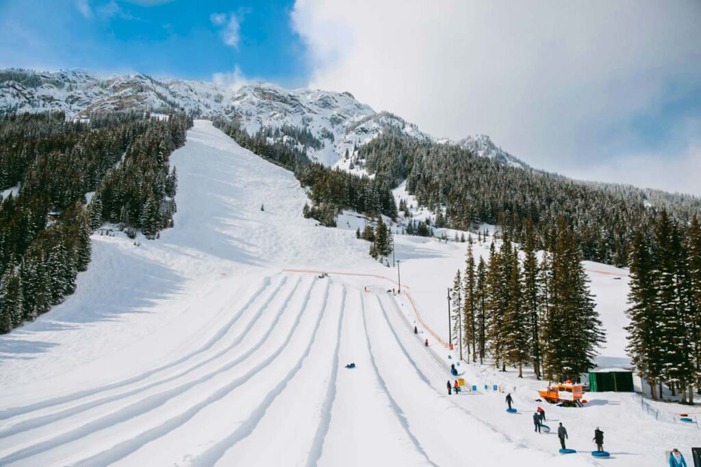 The tube park at Mt Norquay