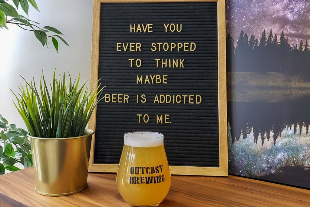 A beer at Outcast Brewing