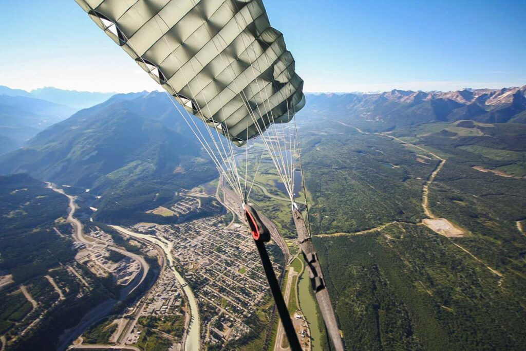 Skydiving in Golden, BC