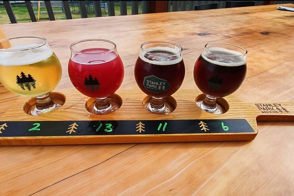 Beers at Stanley Park Brewing