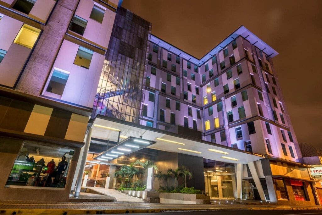 the outside of Urban Green Hotel in San Jose, Costa Rica