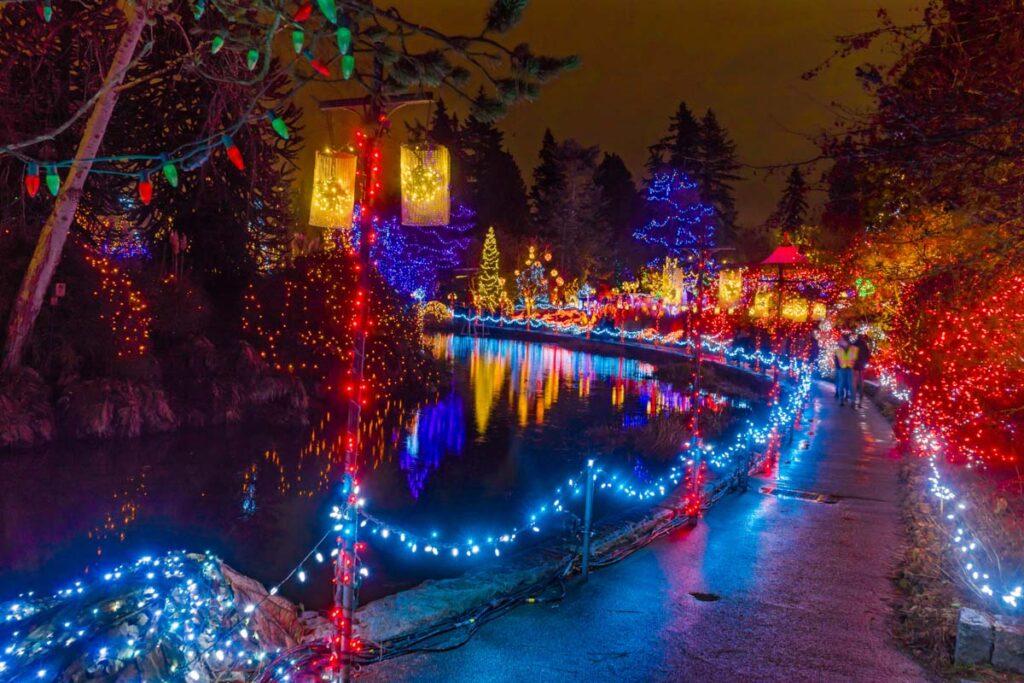 VanDusen Gardens lights during winter in Vancouver