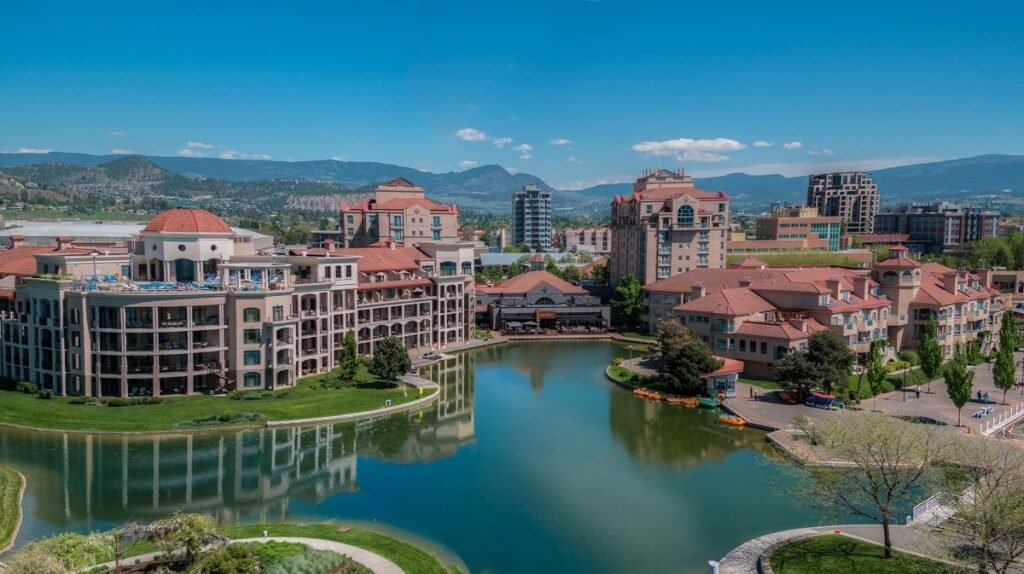 outside of the best place to stay in Kelowna - Delta Hotels by Marriott Grand Okanagan Resort